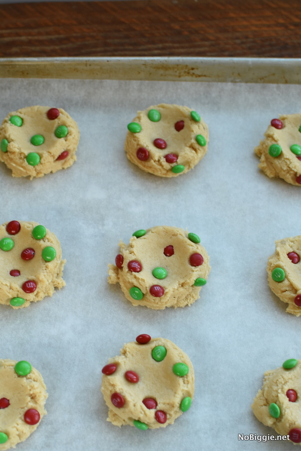 M and M Christmas Cookie dough