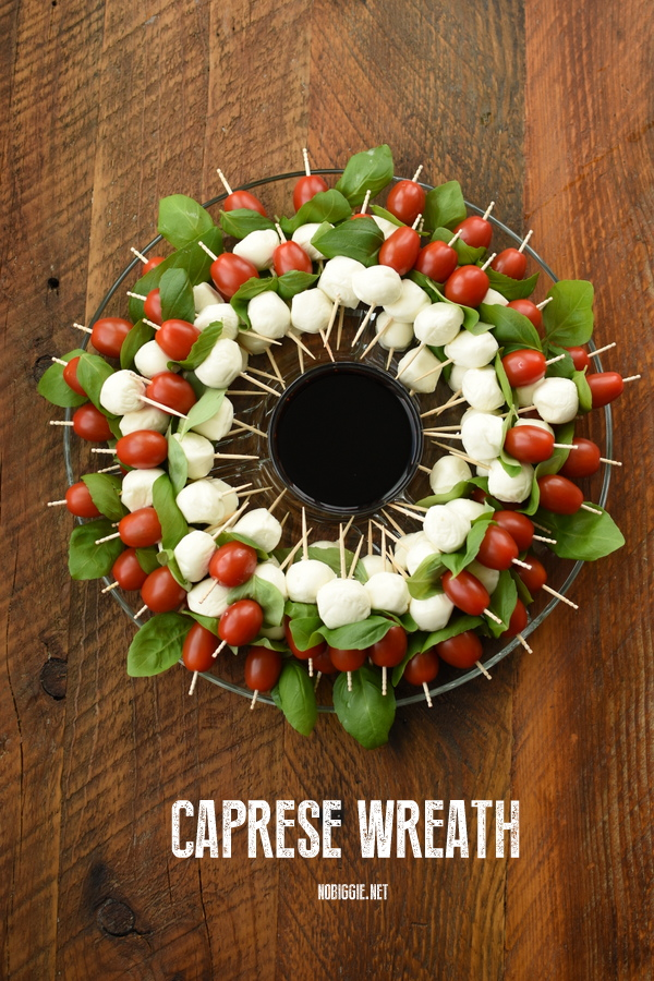 caprese wreath appetizer