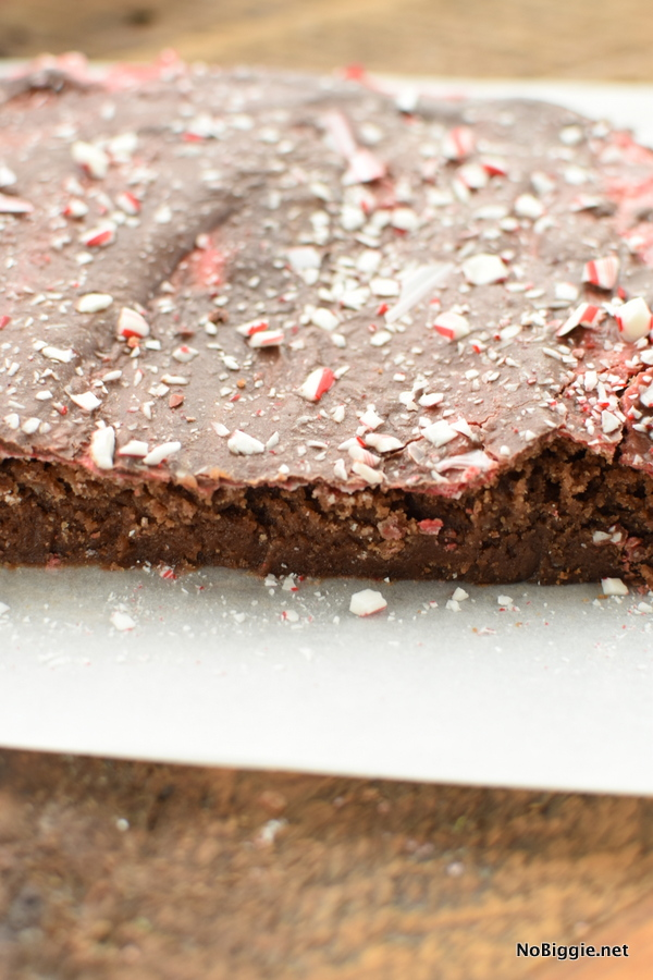 peppermint brownies with candy canes
