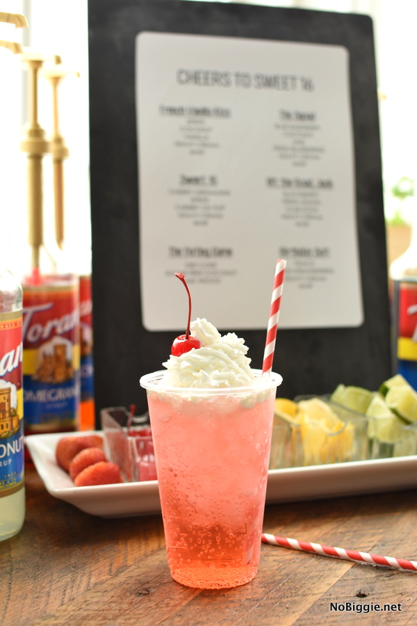 sweet 16 Italian soda bar