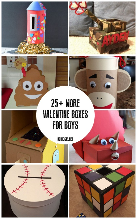 25+ MORE Valentine Boxes for Boys
