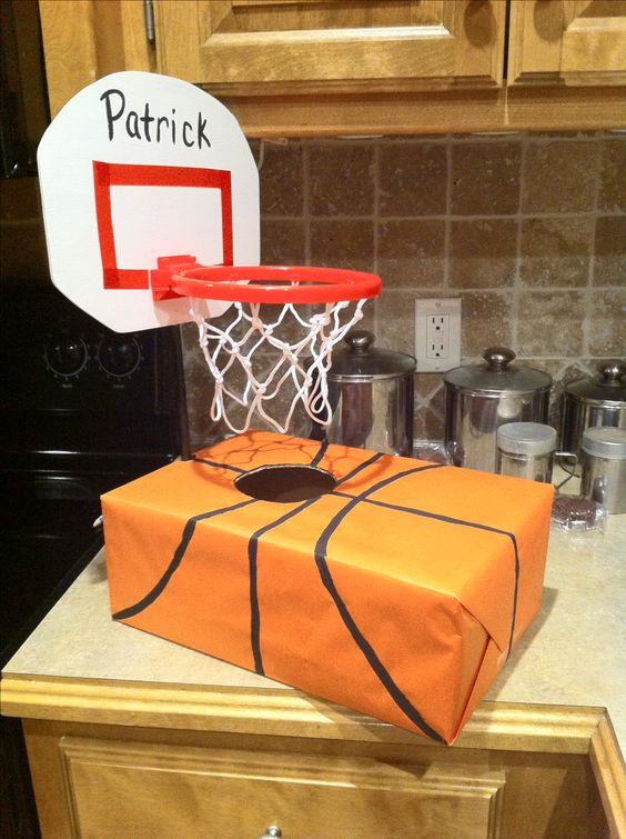 Basketball Hoop Valentine Box