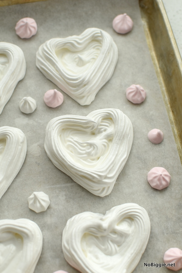 Heart Shaped Meringue