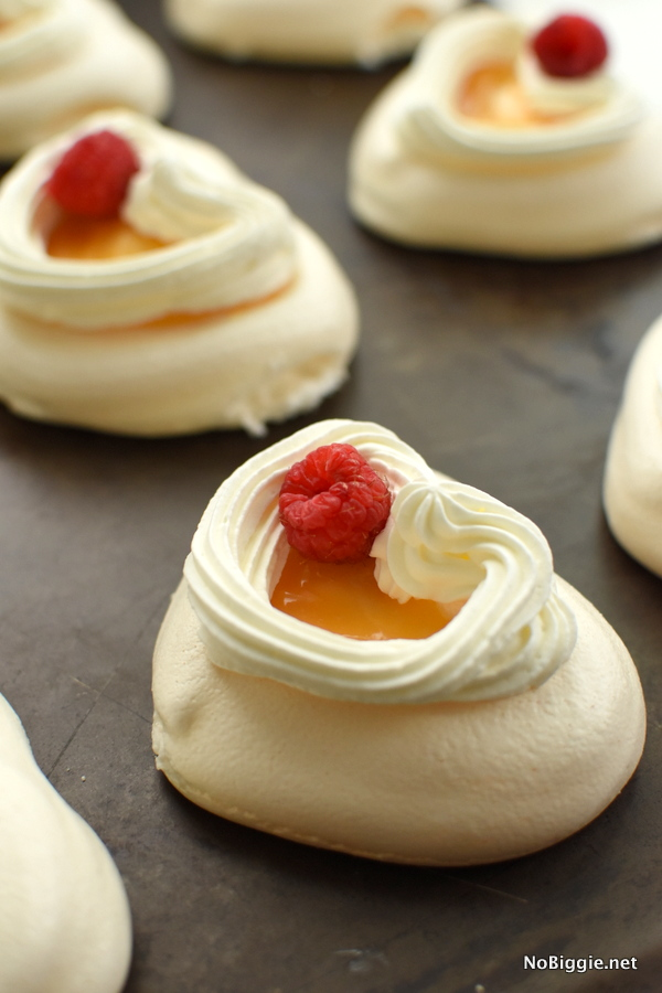 Heart shaped pavlova