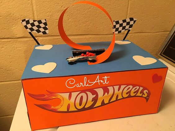 Hot Wheels Track Valentine Box for Boys