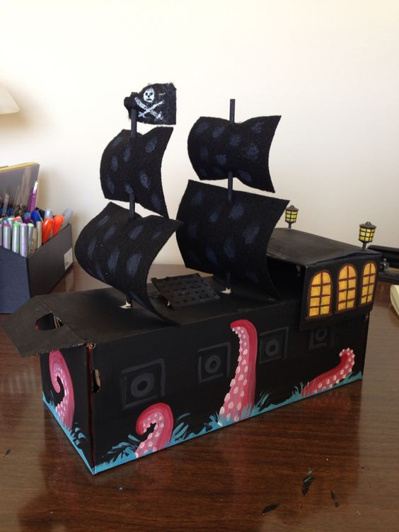 Pirate Ship Valentine Box