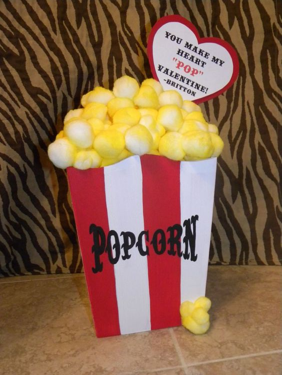 Pop Corn Valentine Box