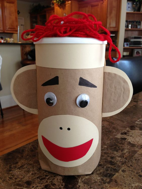 Sock Monkey Valentine Box