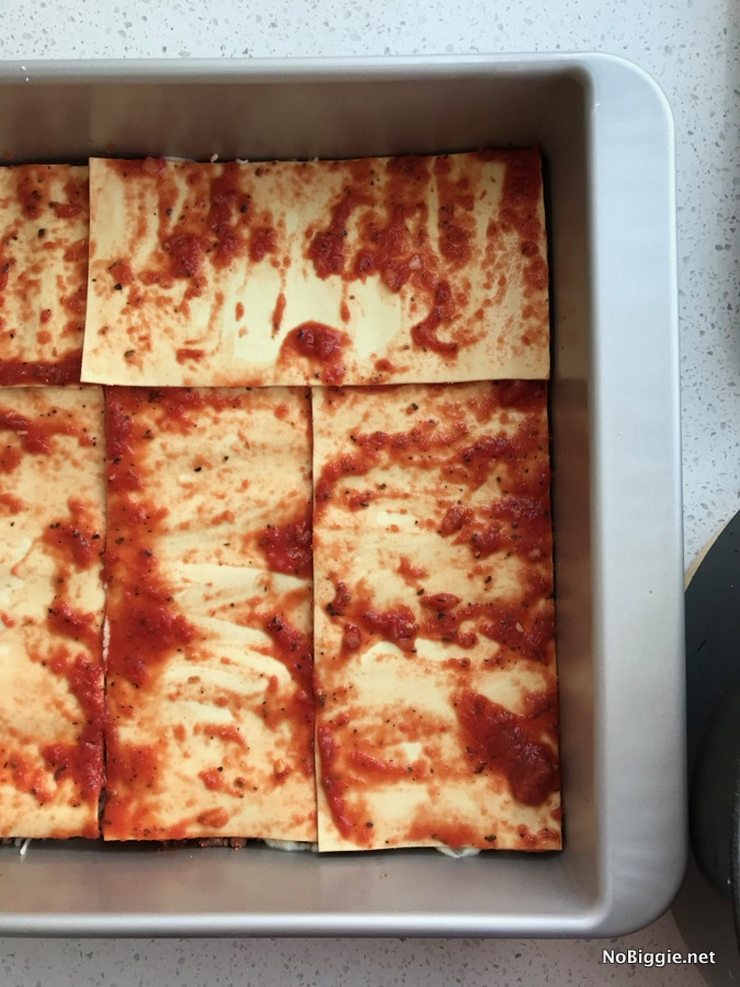Meat Lovers Lasagna layer 1