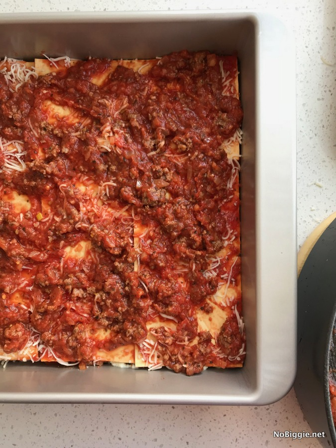 Meat Lovers Lasagna layer 2