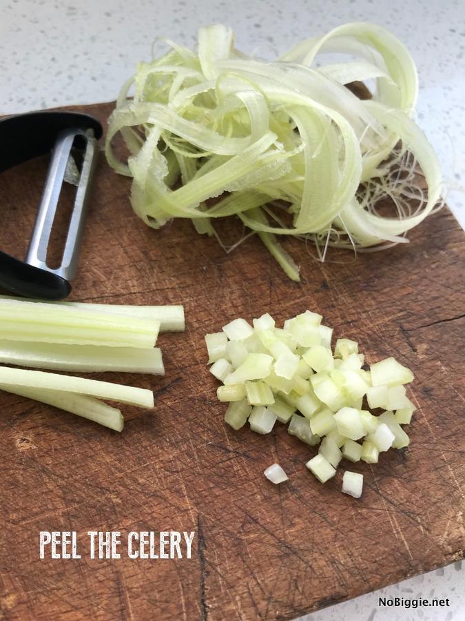 peel the celery