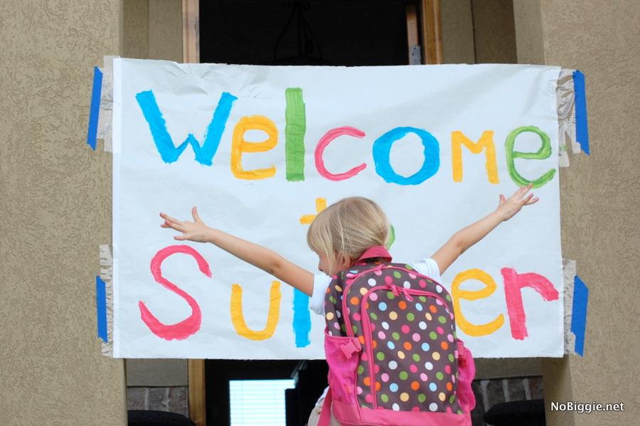 Welcome to Summer Break through banner