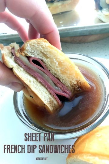 Sheet Pan French Dip Sandwiches