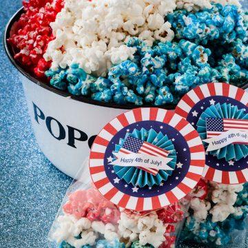 Patriotic Popcorn with free print