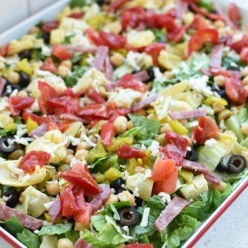 loaded Italian antipasto salad
