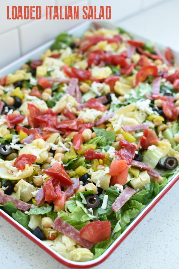 loaded Italian antipasto salad