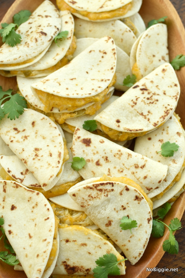 mini cheese quesadillas