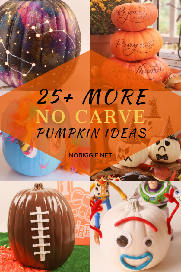 25+ MORE no carve pumpkin ideas | NoBiggie.net