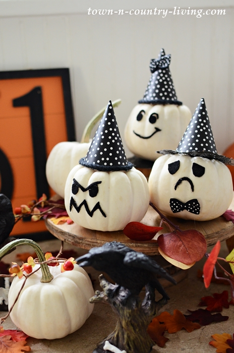 Baby Boo Pumpkins | 25+ MORE no carve pumpkin ideas