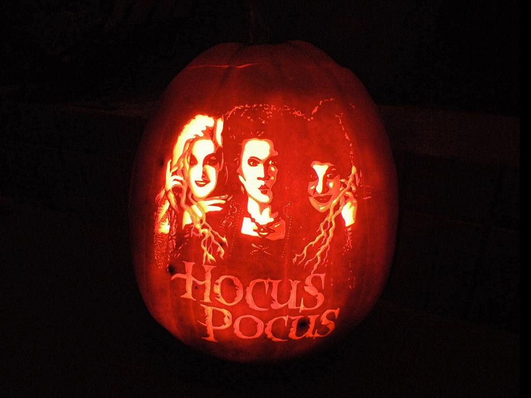 Hocus Pocus Carved Pumpkin | 25+ Creative Carved Pumpkins
