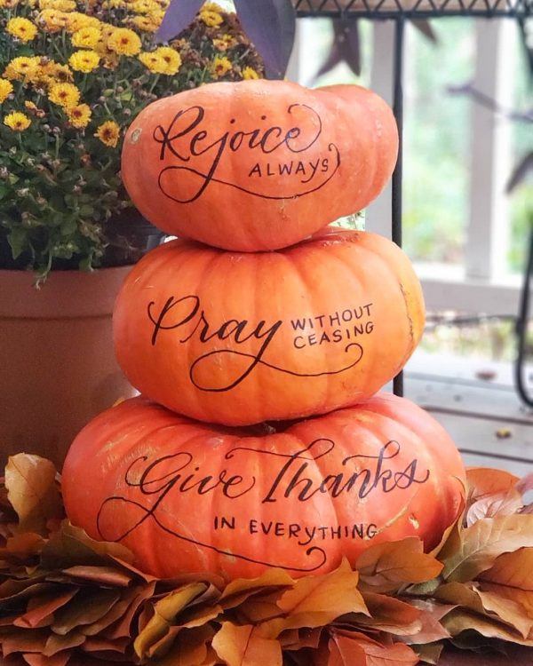 Inspirational Words Pumpkins | 25+ MORE no carve pumpkin ideas