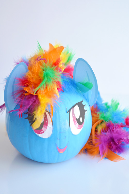 My Little Pony Pumpkin | 25+ MORE no carve pumpkin ideas