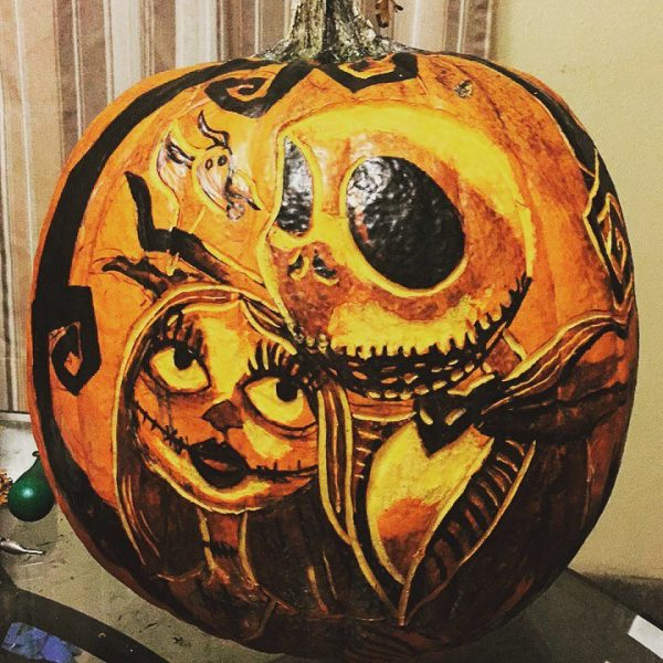Nightmare Before Christmas Carved Pumpkin | 25+ Creative Carved Pumpkins