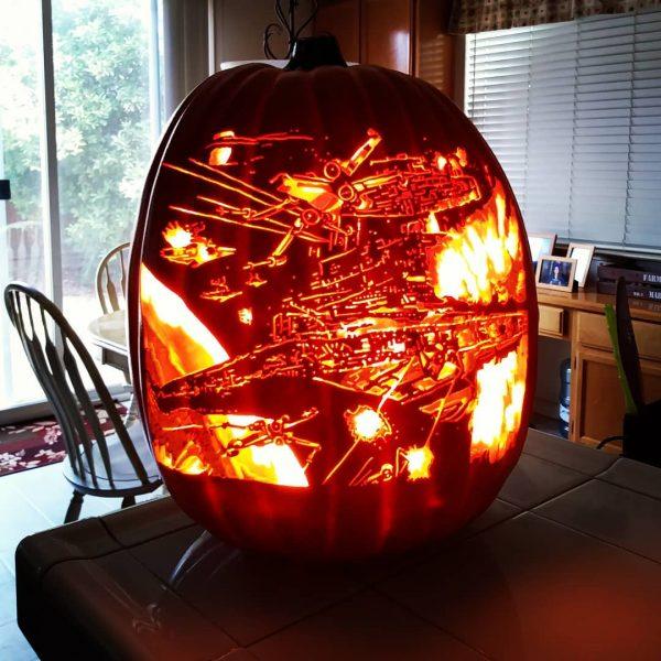 Star Wars Carved Pumpkin | 25+ Creative Carved Pumpkins