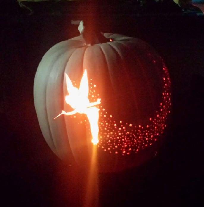 TinkerBell Pixie Dust Carved Pumpkin   25+ Creative Carved Pumpkins