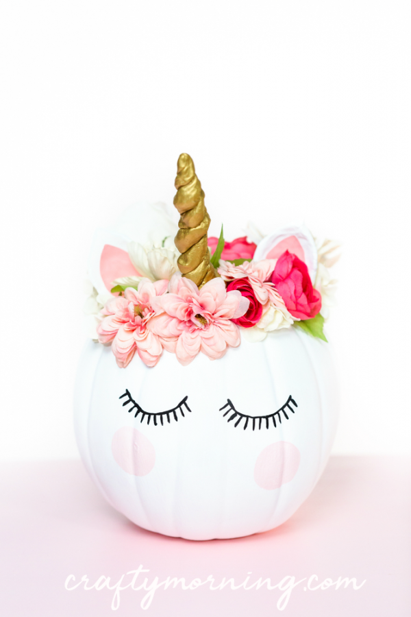 Unicorn Pumpkin | 25+ MORE no carve pumpkin ideas