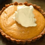 pumpkin marshmallow pie with a gingersnap cookie crust