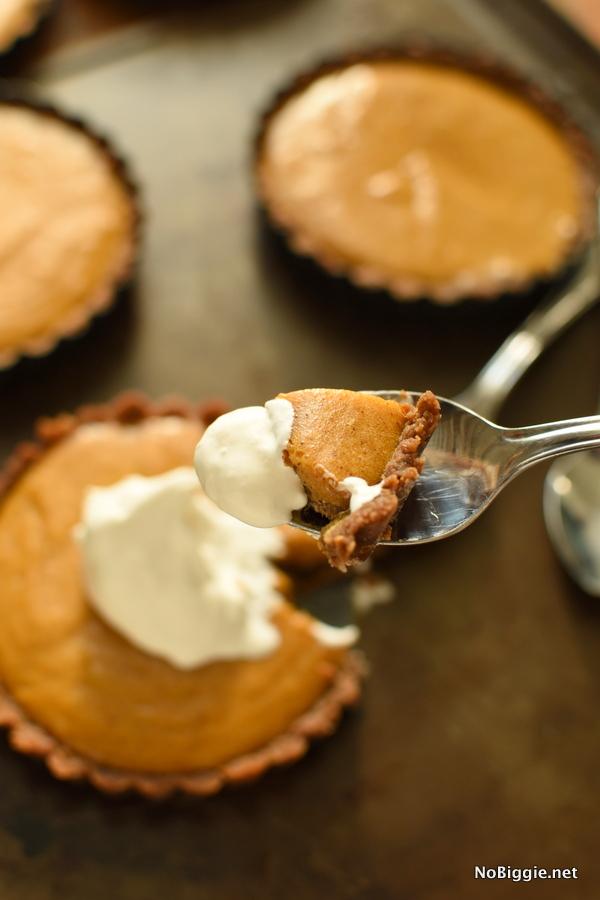 pumpkin marshmallow pie with a gingersnap crust