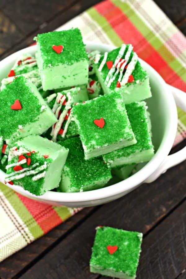 Grinch Fudge | 25+ Holiday Fudge Recipes