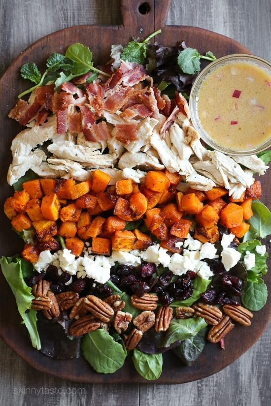 Leftover turkey harvest cobb salad | 25+ MORE leftover turkey recipes