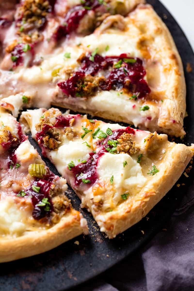 Thanksgiving leftover pizza | 25+ MORE leftover turkey recipes