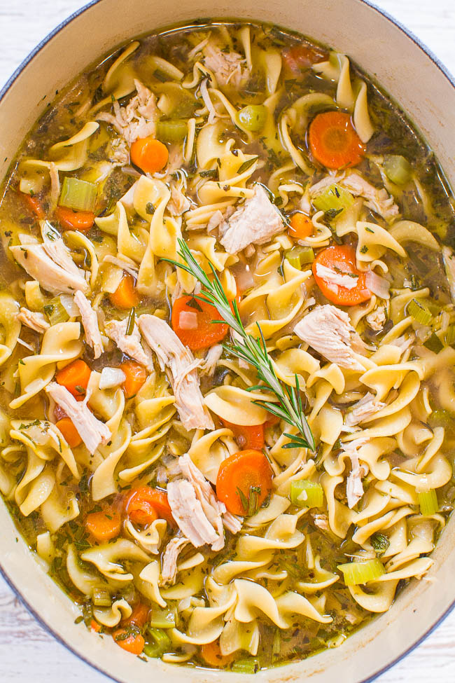 Turkey noodle soup | 25+ MORE leftover turkey recipes