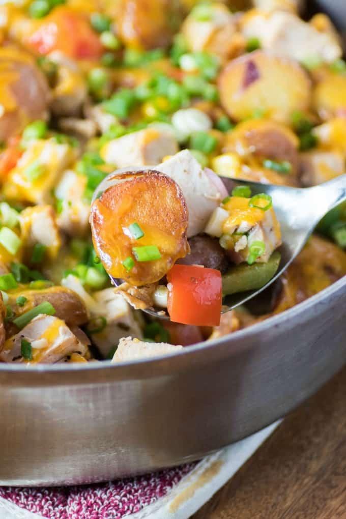 Turkey potato hash | 25+ MORE leftover turkey recipes