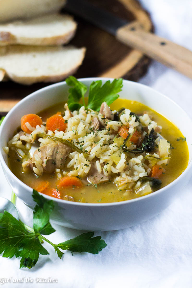 Turkey rice soup | 25+ MORE leftover turkey recipes