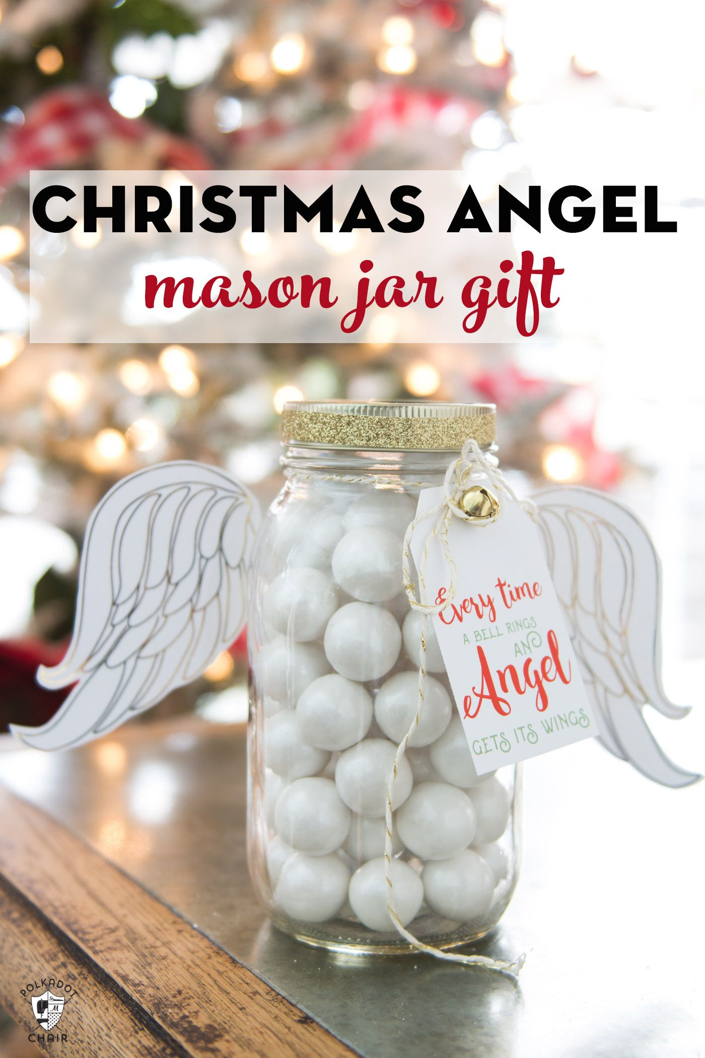 Christmas angel mason jar gift | 25+ more mason jar gift ideas