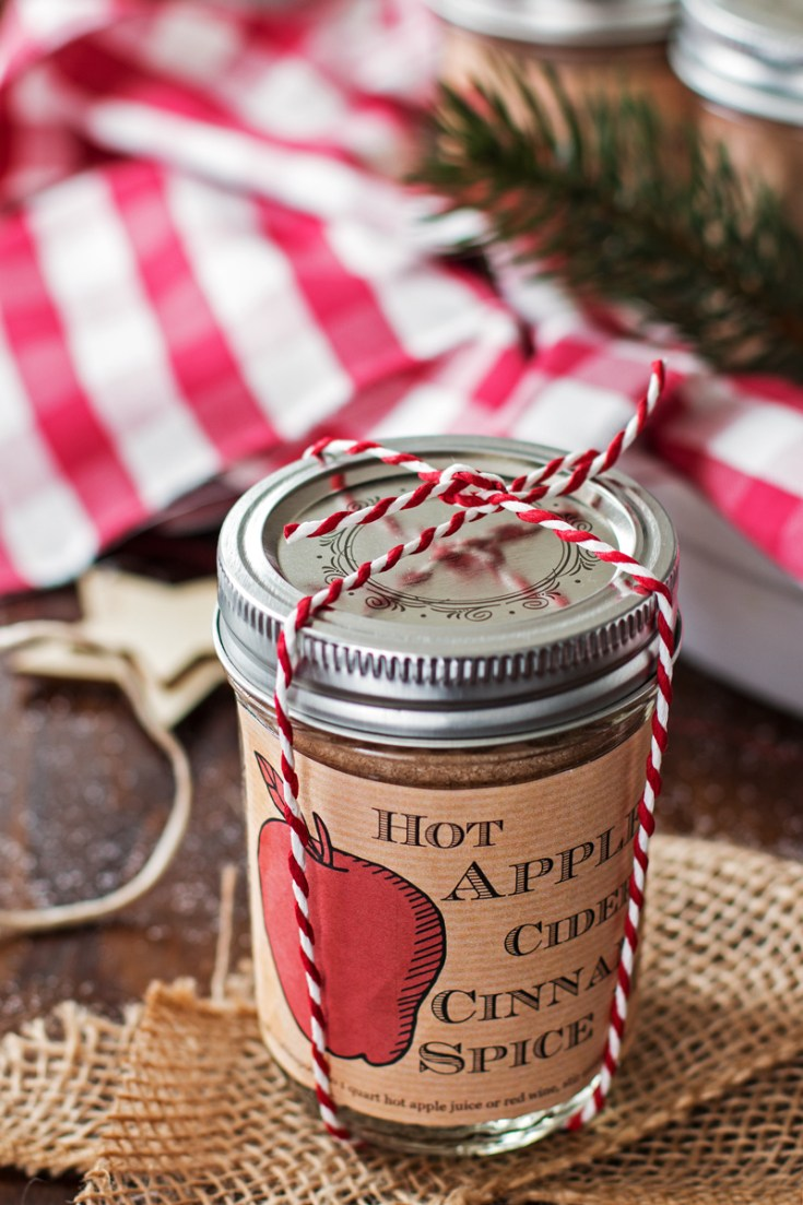 Hot apple cider cinnamon spice mix | 25+ more mason jar gift ideas
