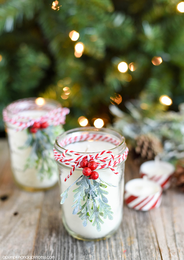 Peppermint candles | 25+ more mason jar gift ideas