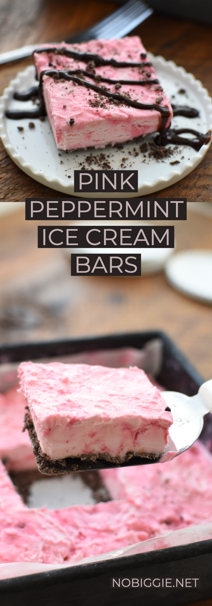 Pink peppermint ice cream bars | NoBiggie.net