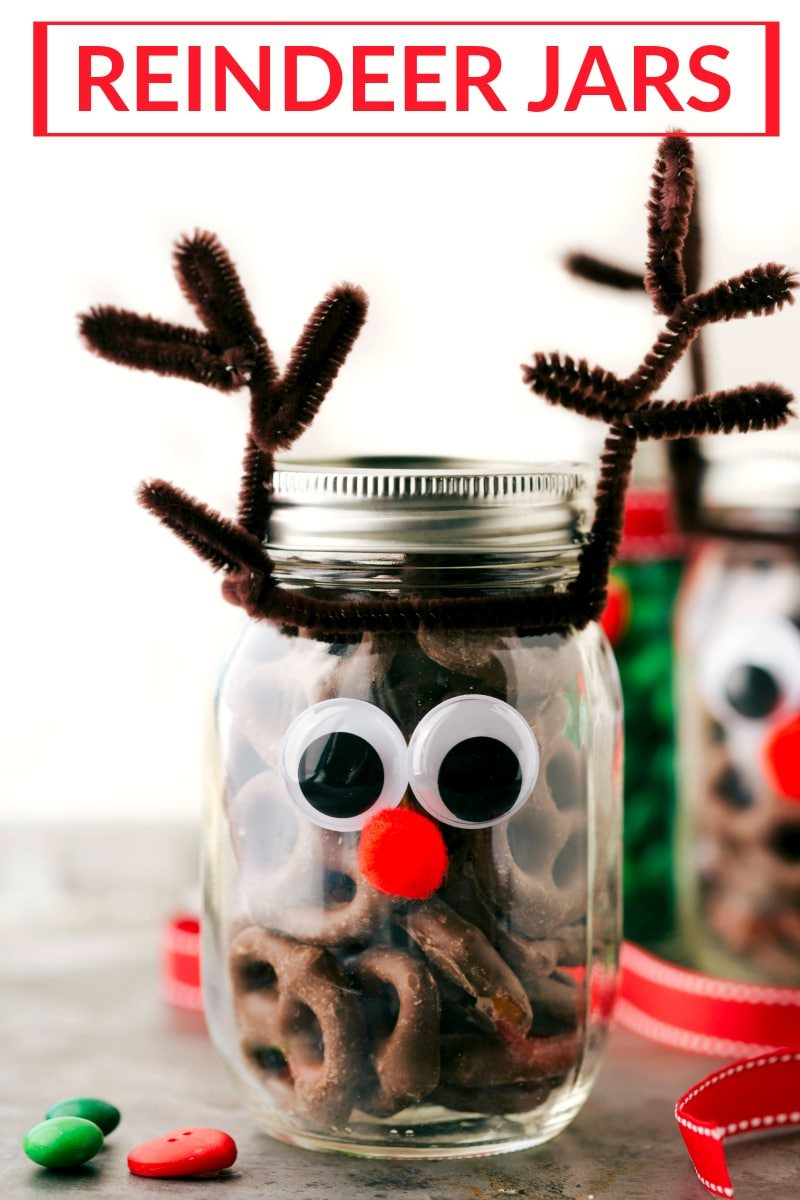 Reindeer jars | 25+ more mason jar gift ideas