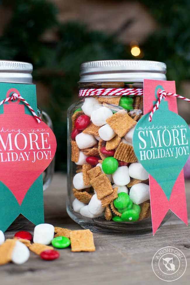 S'mores mason jar | 25+ more mason jar gift ideas