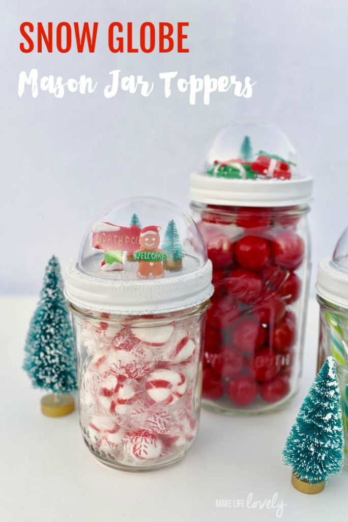 Snow globe jar toppers | 25+ more mason jar gift ideas