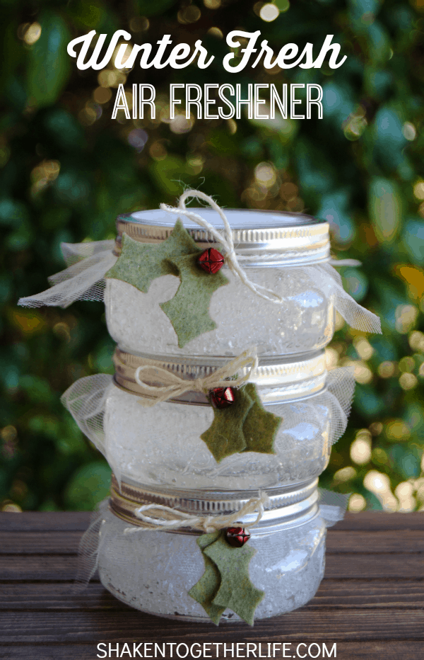 Winter fresh air fresheners | 25+ more mason jar gift ideas