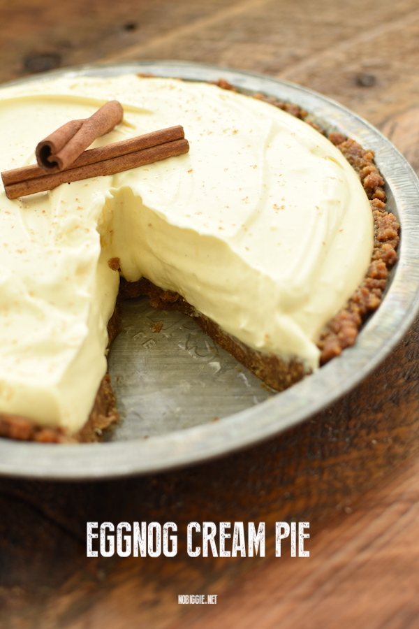 Eggnog Cream Pie with a gingersnap crust | NoBiggie.net
