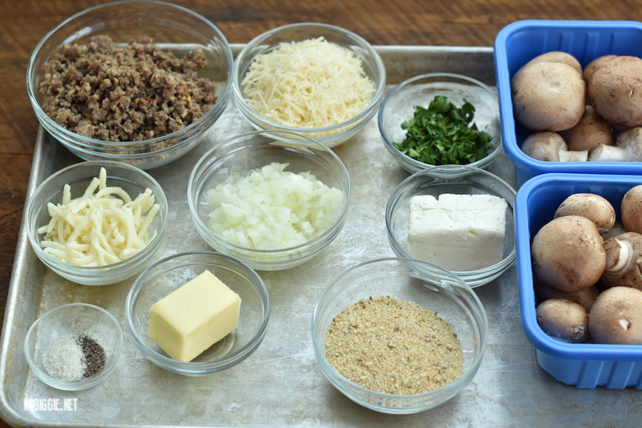 ingredients for stuffed mushrooms | NoBiggie.net
