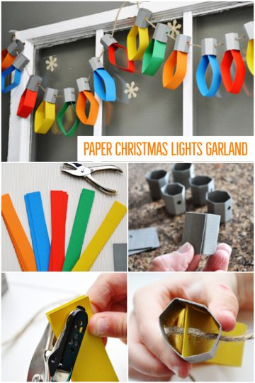 Paper Christmas Lights Garland
