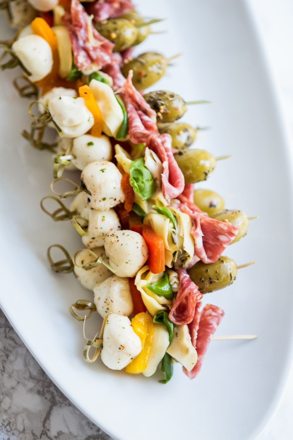 Antipasto skewers | 25+ MORE Easy No Cook Appetizers